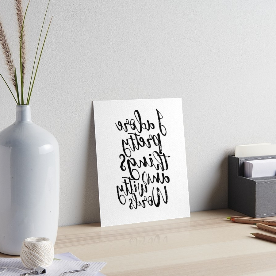Kate Spade Wall Art Intended For Most Popular I Adore Pretty Things And Witty Words,kate Spade Quote,funny Print (View 9 of 20)