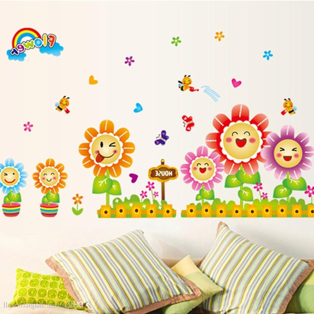 Kids Wall Art With Regard To 2017 Cute Spring Wall Decor Stickers For Kids Room & Nursery Decoration (Gallery 9 of 15)