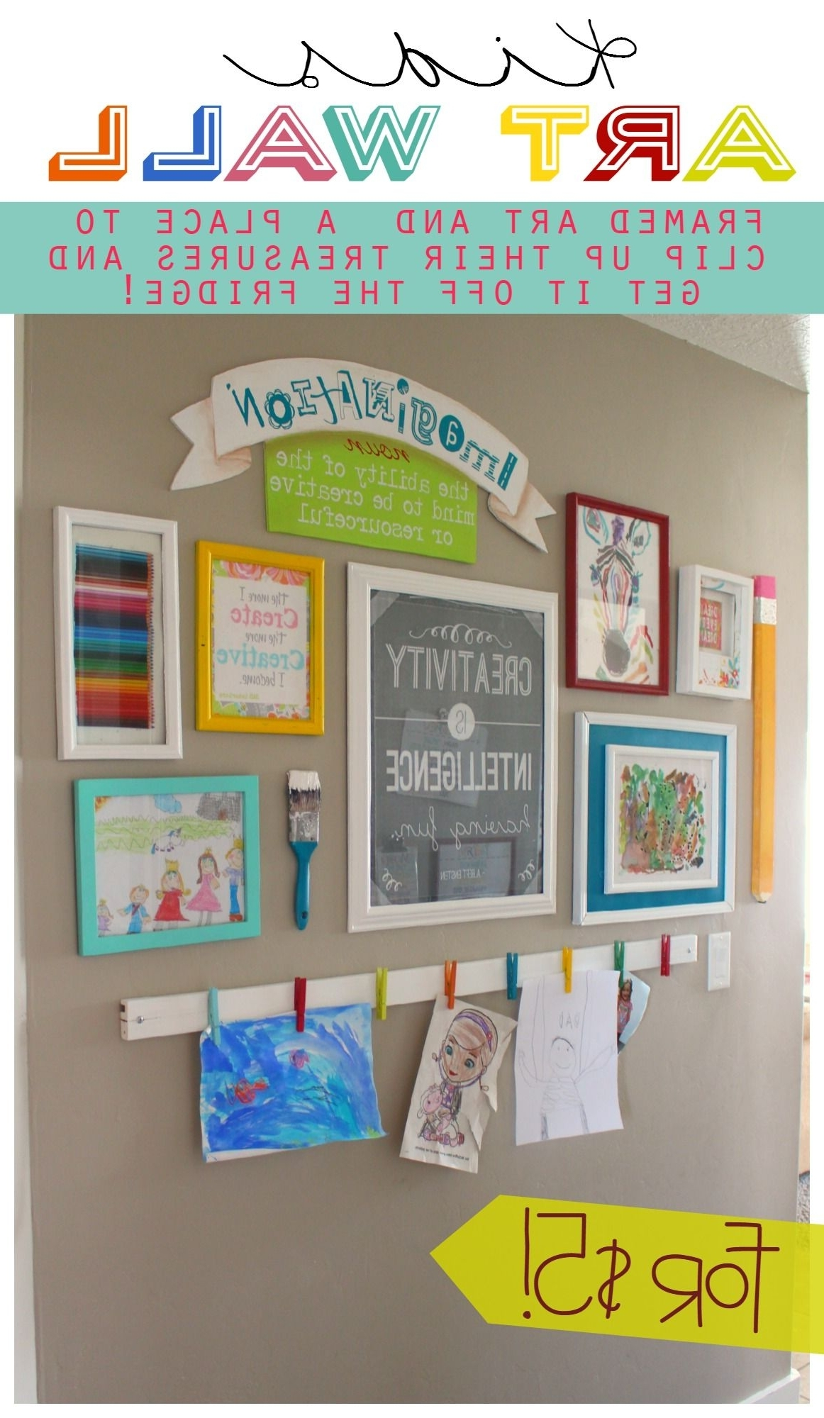 Kids Wall Art Within 2017 The Evolution Of An Art Wall (View 5 of 15)