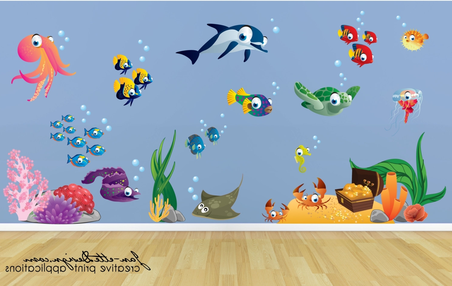 Kids Wall Decalsfish And Deep Unique Under The Sea Wall Decals Intended For Preferred Kids Wall Art (View 6 of 15)