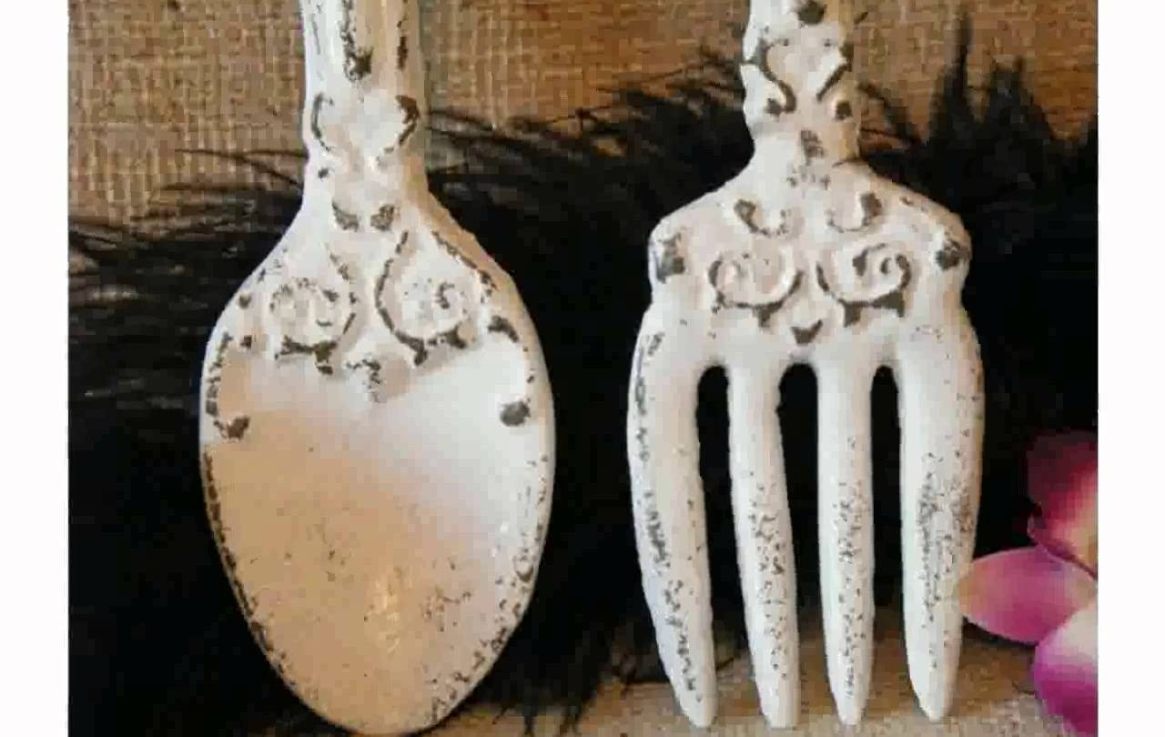 Kitchen Wall Decor Fork And Spoon – Youtube Regarding Widely Used Fork And Spoon Wall Art (Gallery 15 of 20)
