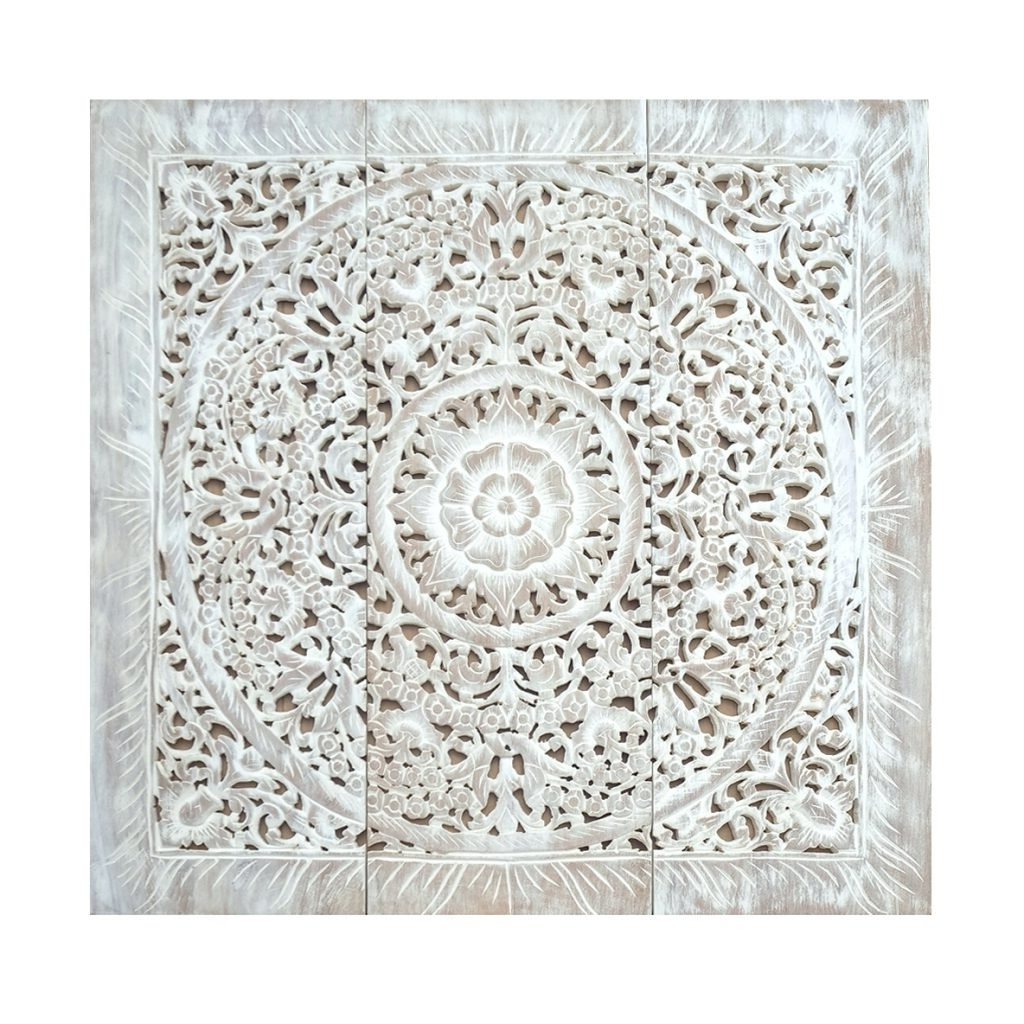Large Carved Wood Wall Panels Wall Arts Carved Wood Wall Art Panels Regarding Well Liked Carved Wood Wall Art (View 11 of 15)