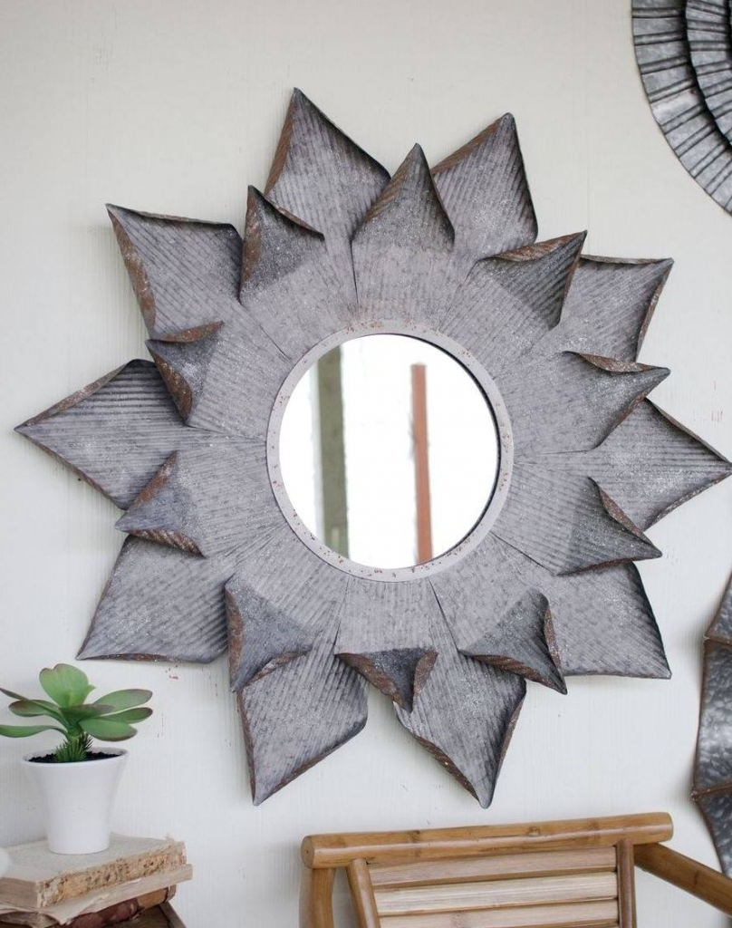 Large Metal Flower Mirror Wall Art – Trendy Essential Decor (View 14 of 15)