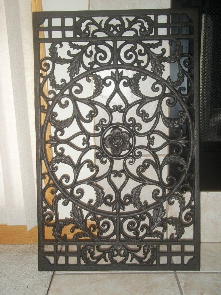 Large Outdoor Wall Art Throughout Most Recent Wrought Iron Wall Decor For Large Area Art Canada Contemporary Metal (View 12 of 20)