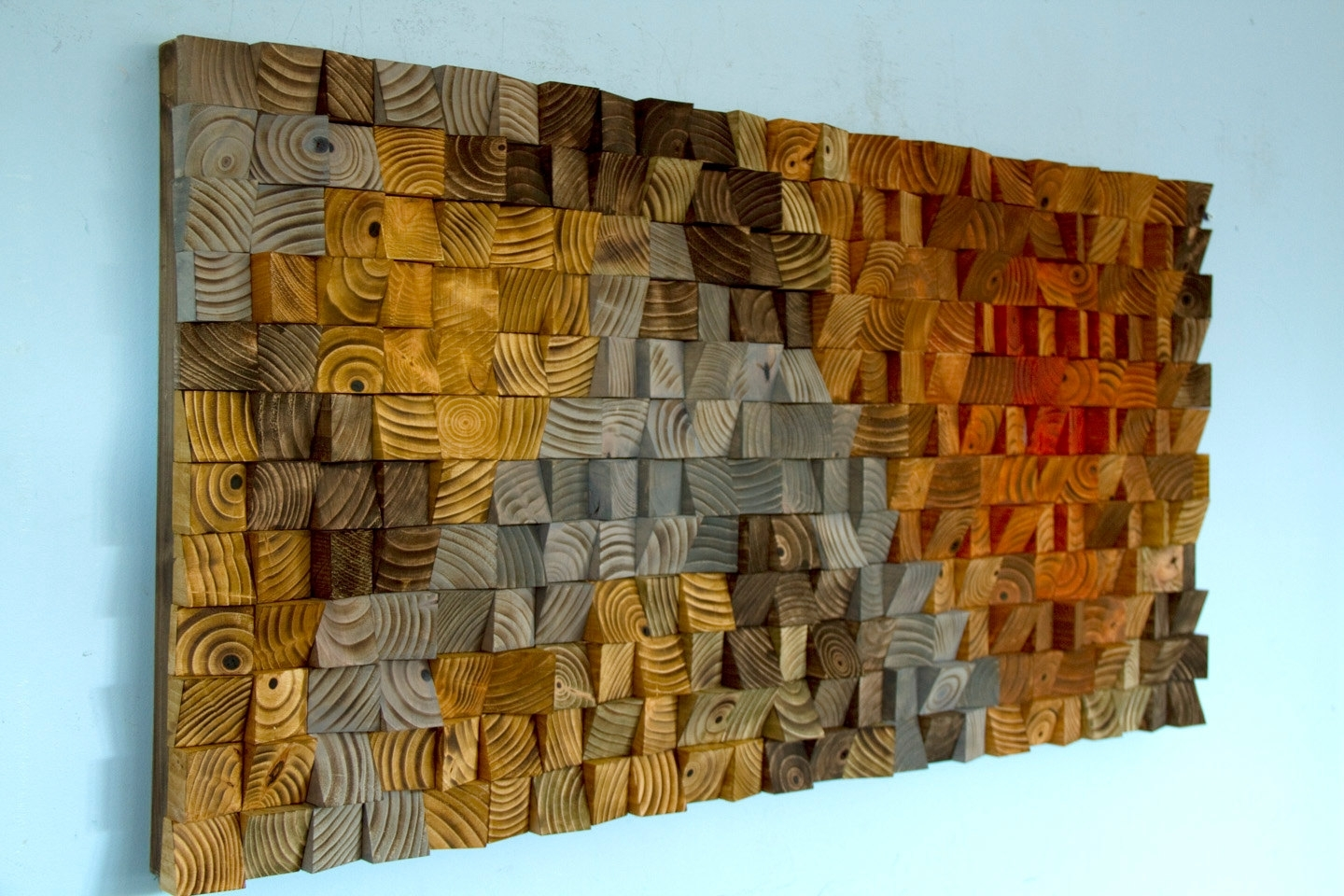 Large Rustic Art, Wood Wall Sculpture, Abstract Painting On Wood For Most Popular Large Rustic Wall Art (Gallery 12 of 20)
