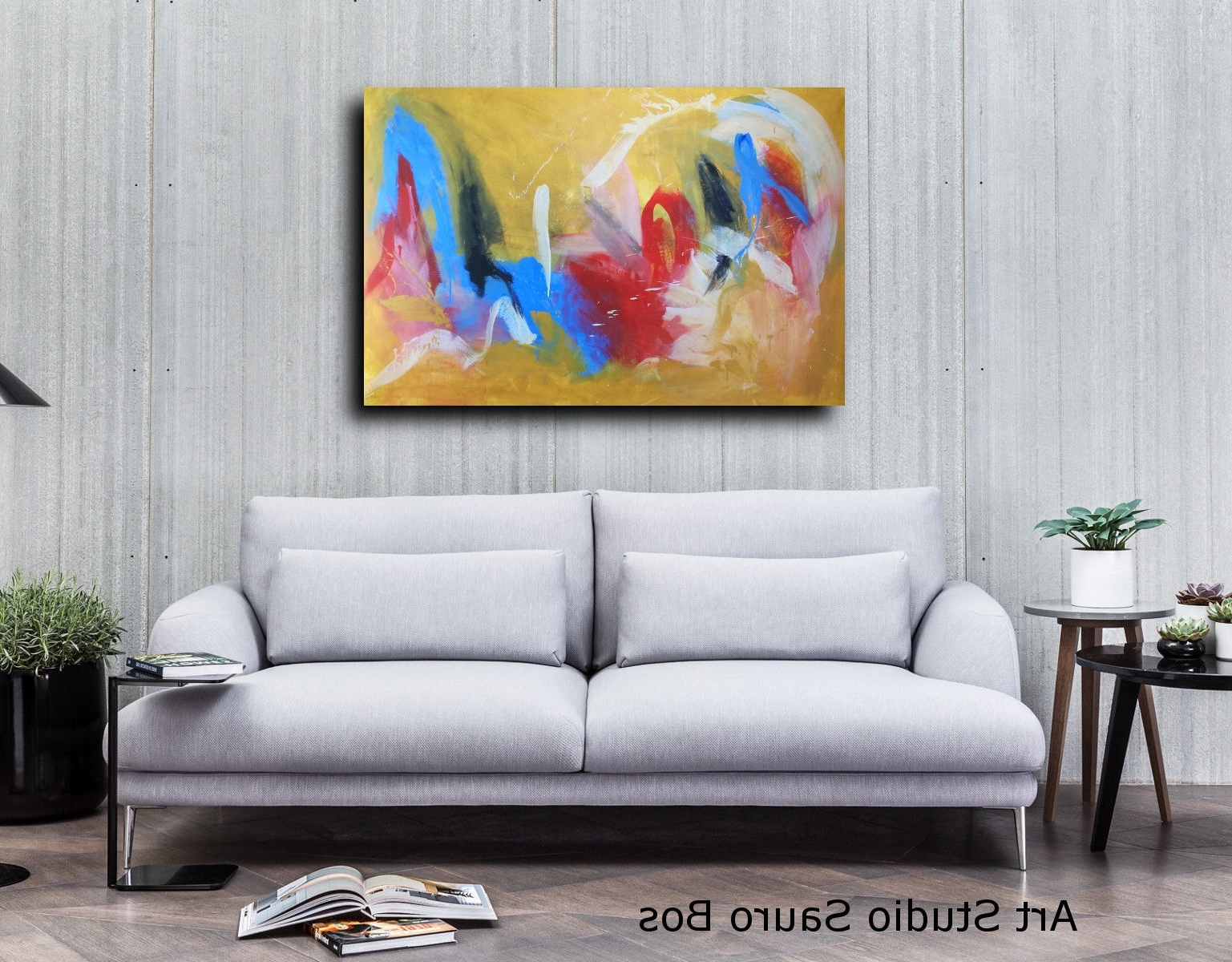 Large Wall Art Canvas Yellow 120X80 With Regard To Recent Large Canvas Painting Wall Art (Gallery 11 of 20)