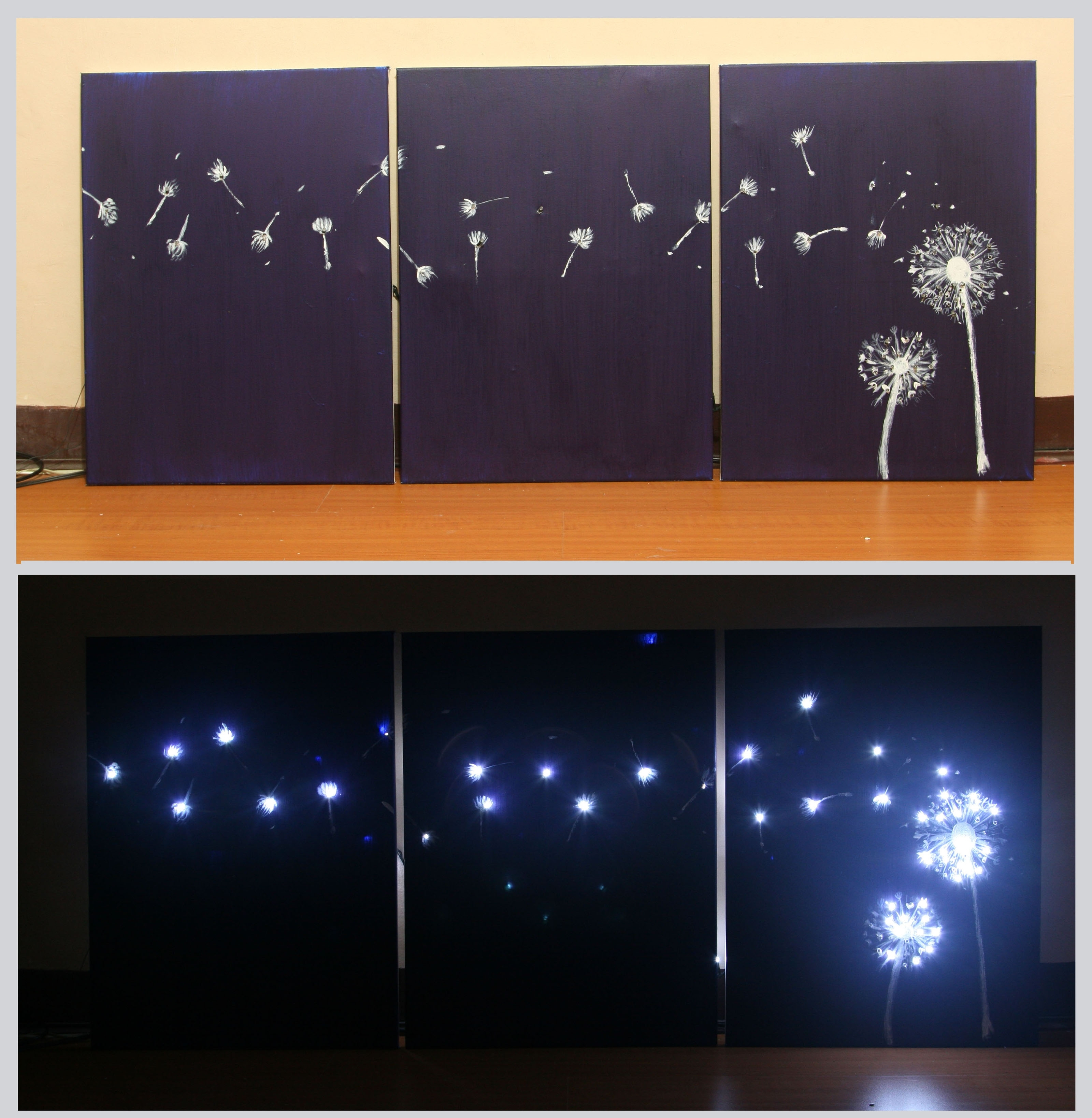 Latest 3 Ways To Design Three Panel, Light Up Dandelion Wall Art Within Lighted Wall Art (View 8 of 20)
