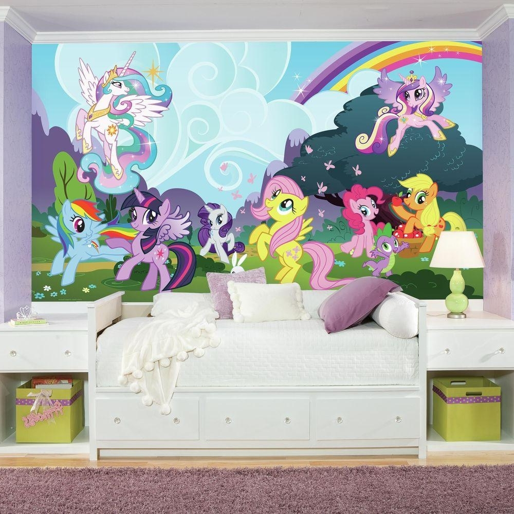 Latest 72 In. X 126 In. My Little Pony Ponyville Xl Chair Rail Prepasted For My Little Pony Wall Art (Gallery 6 of 20)