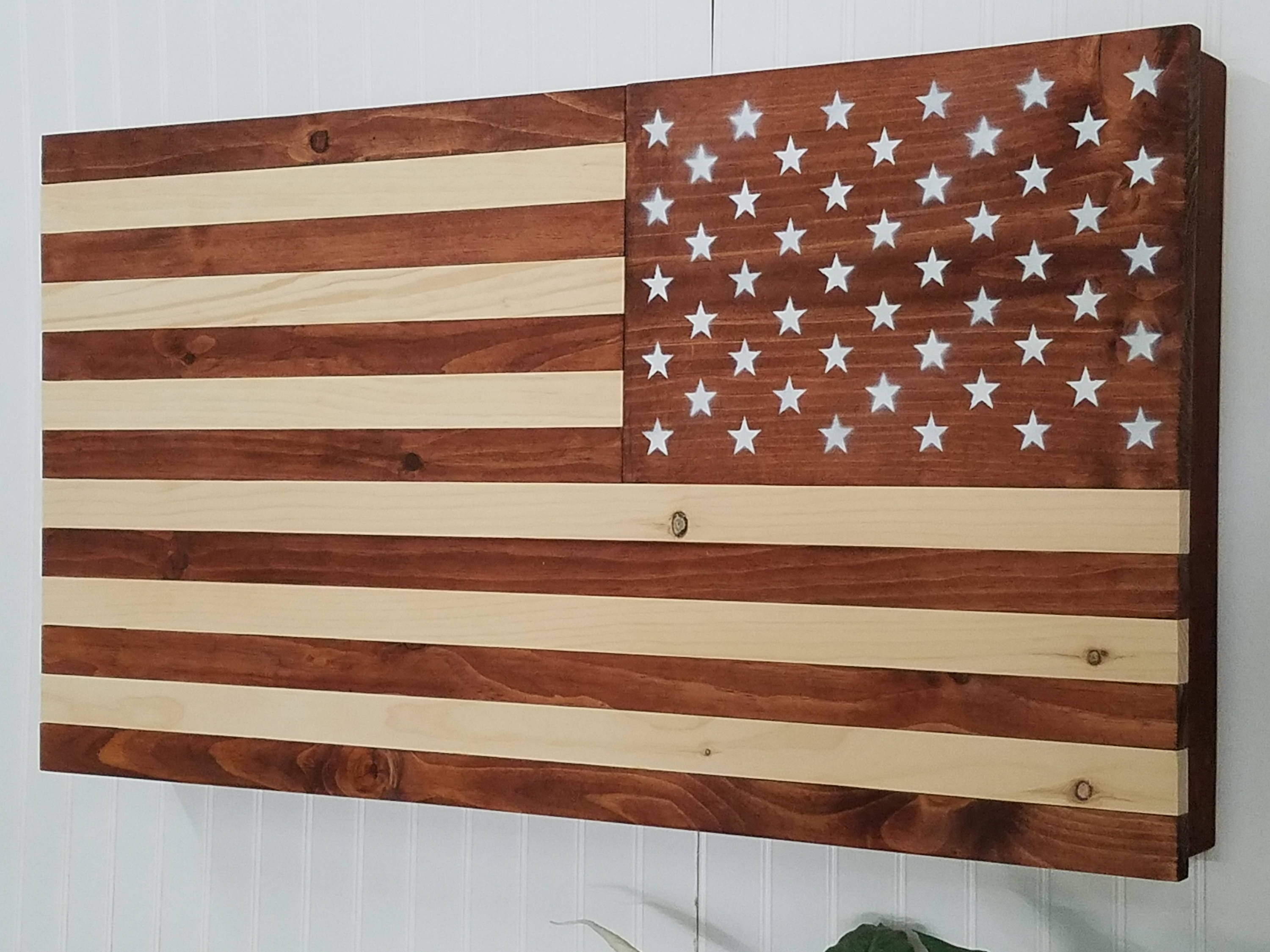 Latest American Flag Wooden Concealment Furniture Compartment Cabinet In Wooden American Flag Wall Art (Gallery 17 of 20)