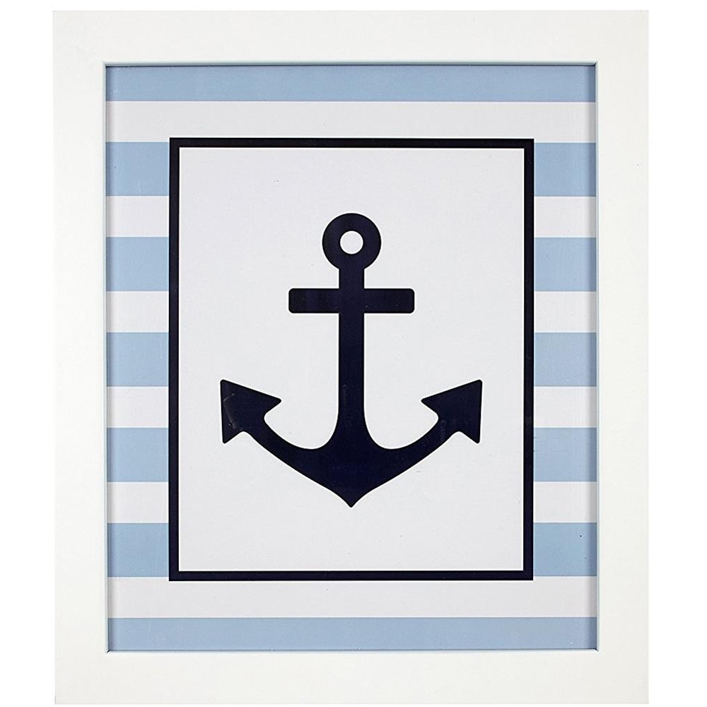 Latest Anchor Wall Art With Framed Navy Anchor Wall Art (View 1 of 20)
