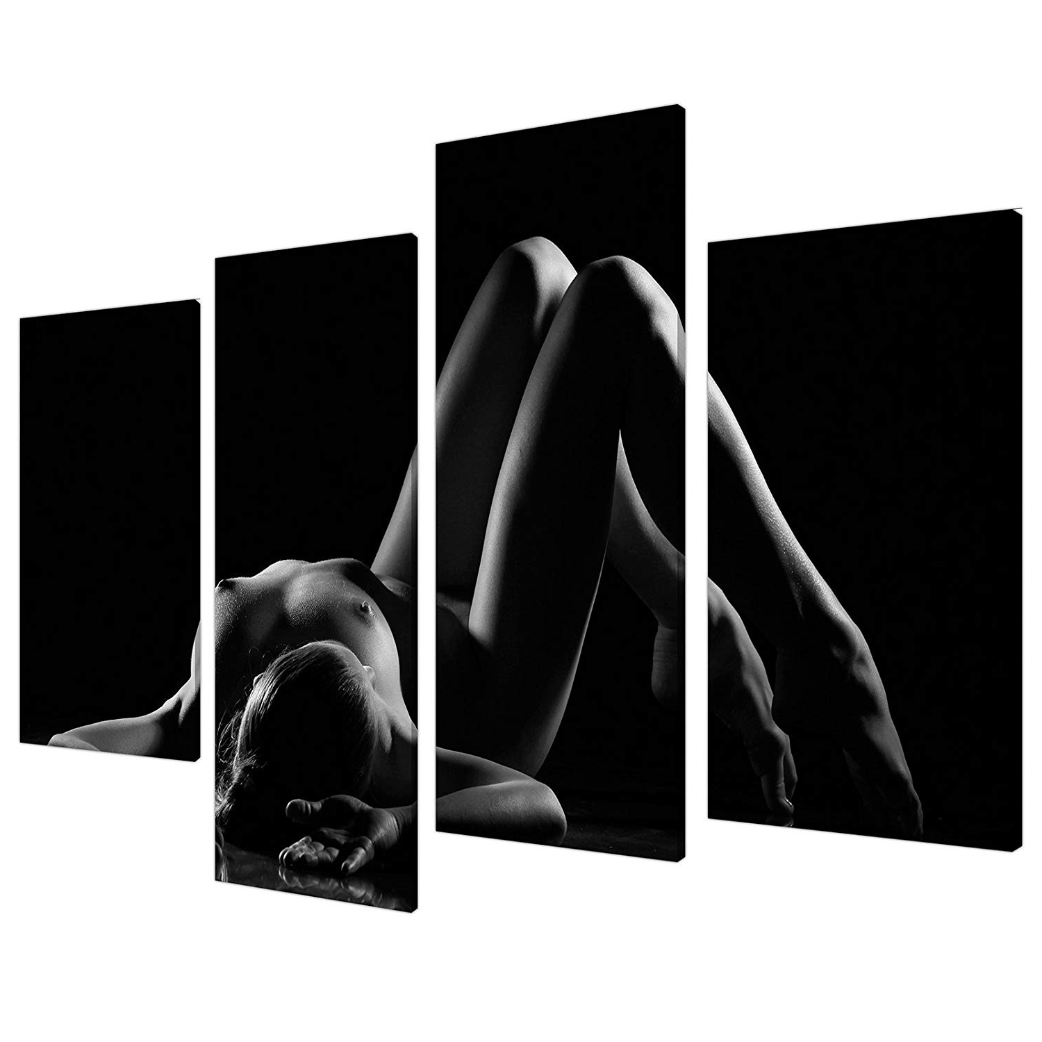 Latest Black And White Large Canvas Wall Art For Black White Erotic Bedroom Canvas Wall Art Pictures Xl Set Prints (Gallery 13 of 20)