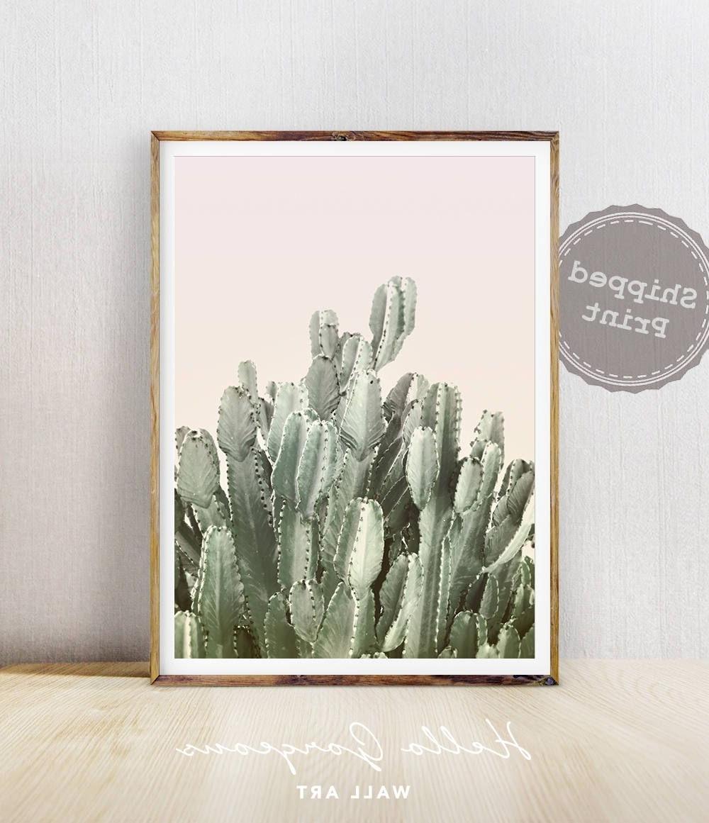 Latest Cactus Wall Art, Cactus Print, Cactus Art, Desert Cactus Photo With Regard To Cactus Wall Art (View 13 of 20)