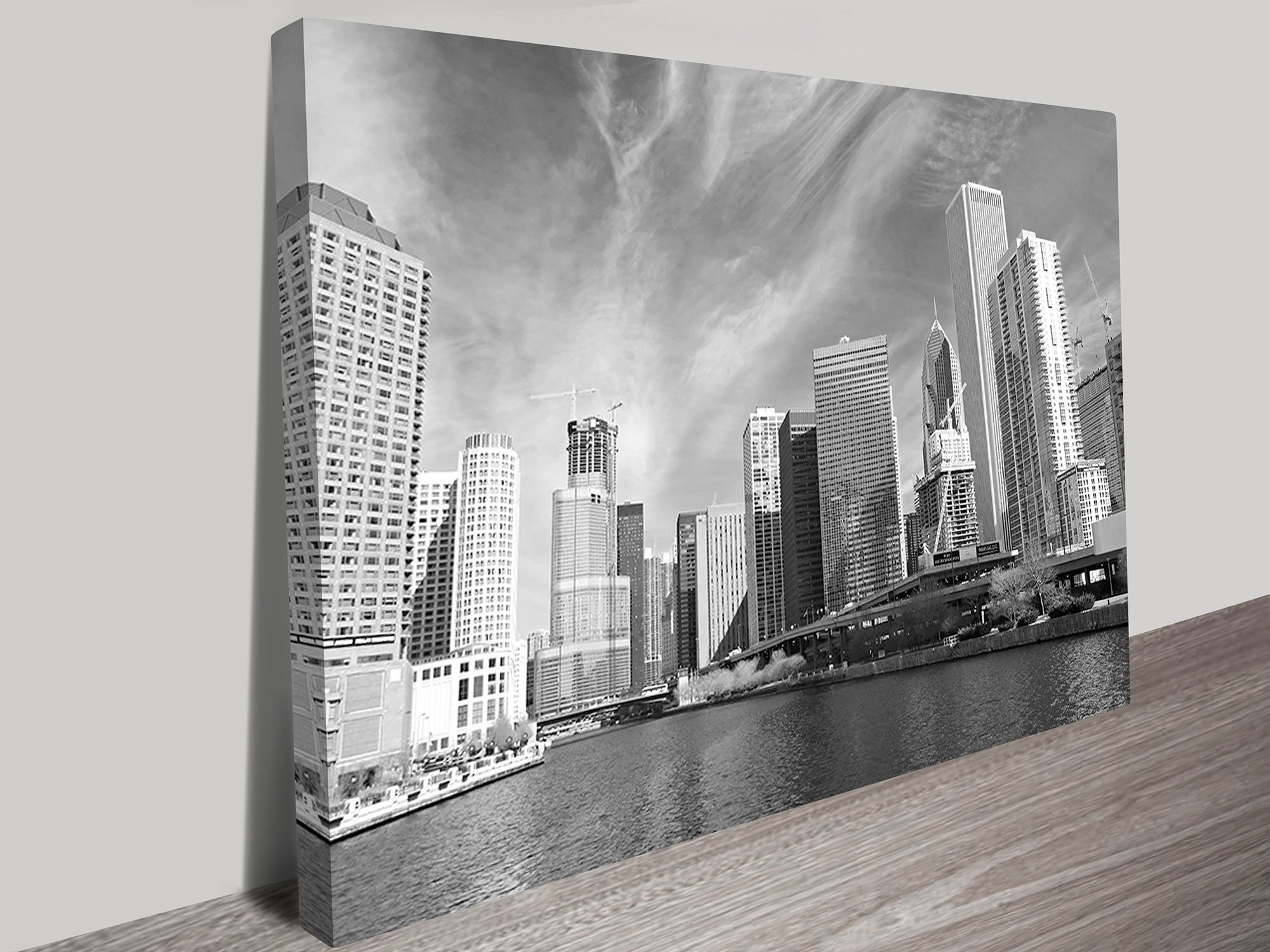 Latest Chicago Black And White Wall Art Print For White Wall Art (View 8 of 20)