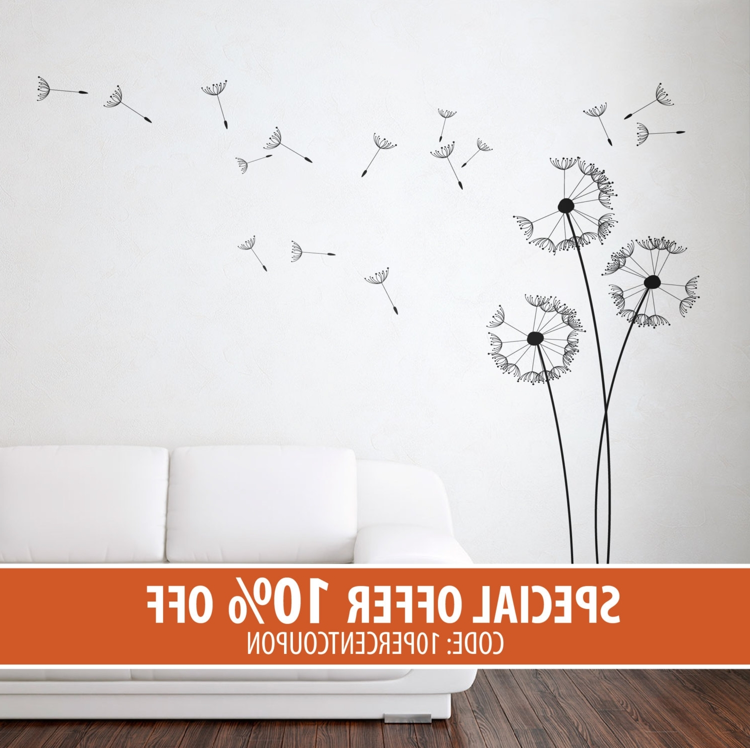 Latest Dandelion Wall Art With Regard To Dandelion Wall Stickers – Dandelion Stickers – Dandelion Wall Art (View 11 of 20)