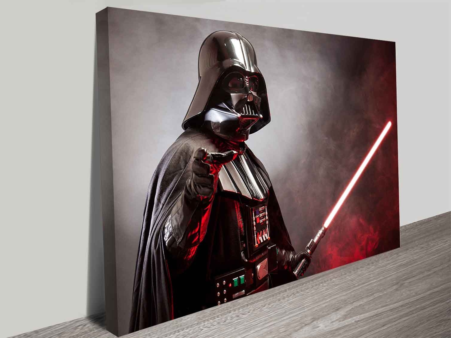 Latest Darth Vader's Laser Sword Wall Art Print On Canvas Australia With Regard To Darth Vader Wall Art (Gallery 6 of 20)