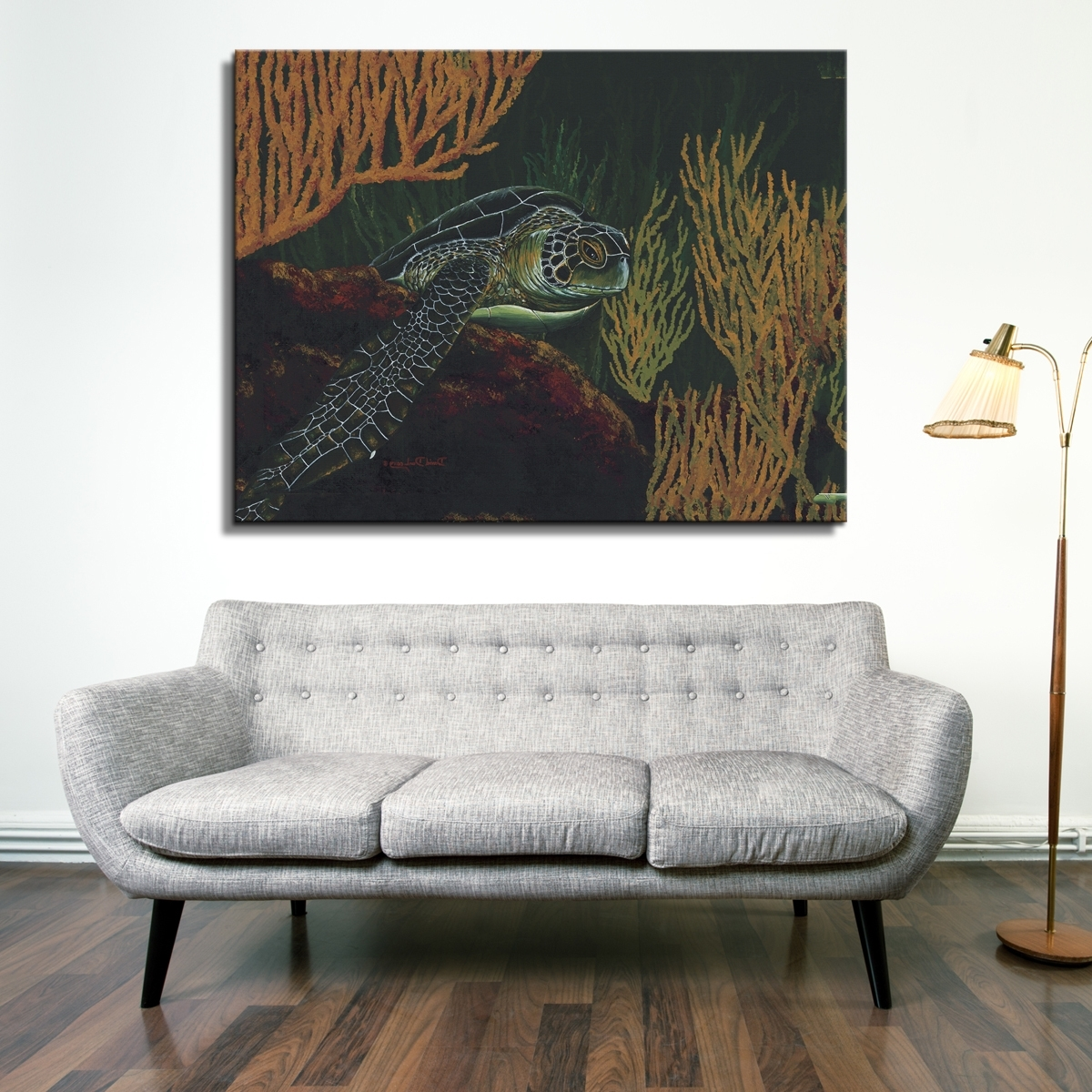 Latest David Dunleavy 'black Sea Turtle' Canvas Wall Art – Free Shipping Within Sea Turtle Canvas Wall Art (Gallery 8 of 20)