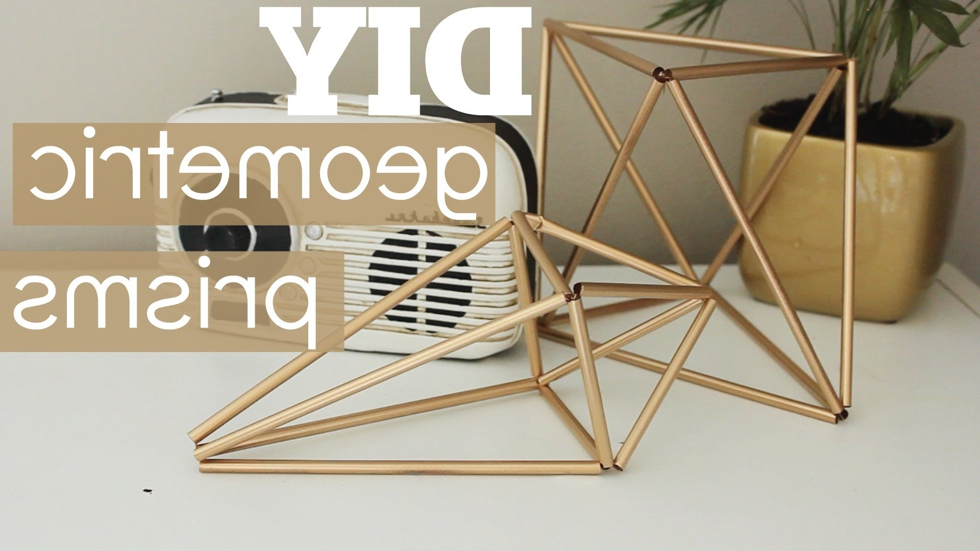 Latest Diy Geometric Prism Decor – Youtube In Geometric Metal Wall Art (Gallery 18 of 20)