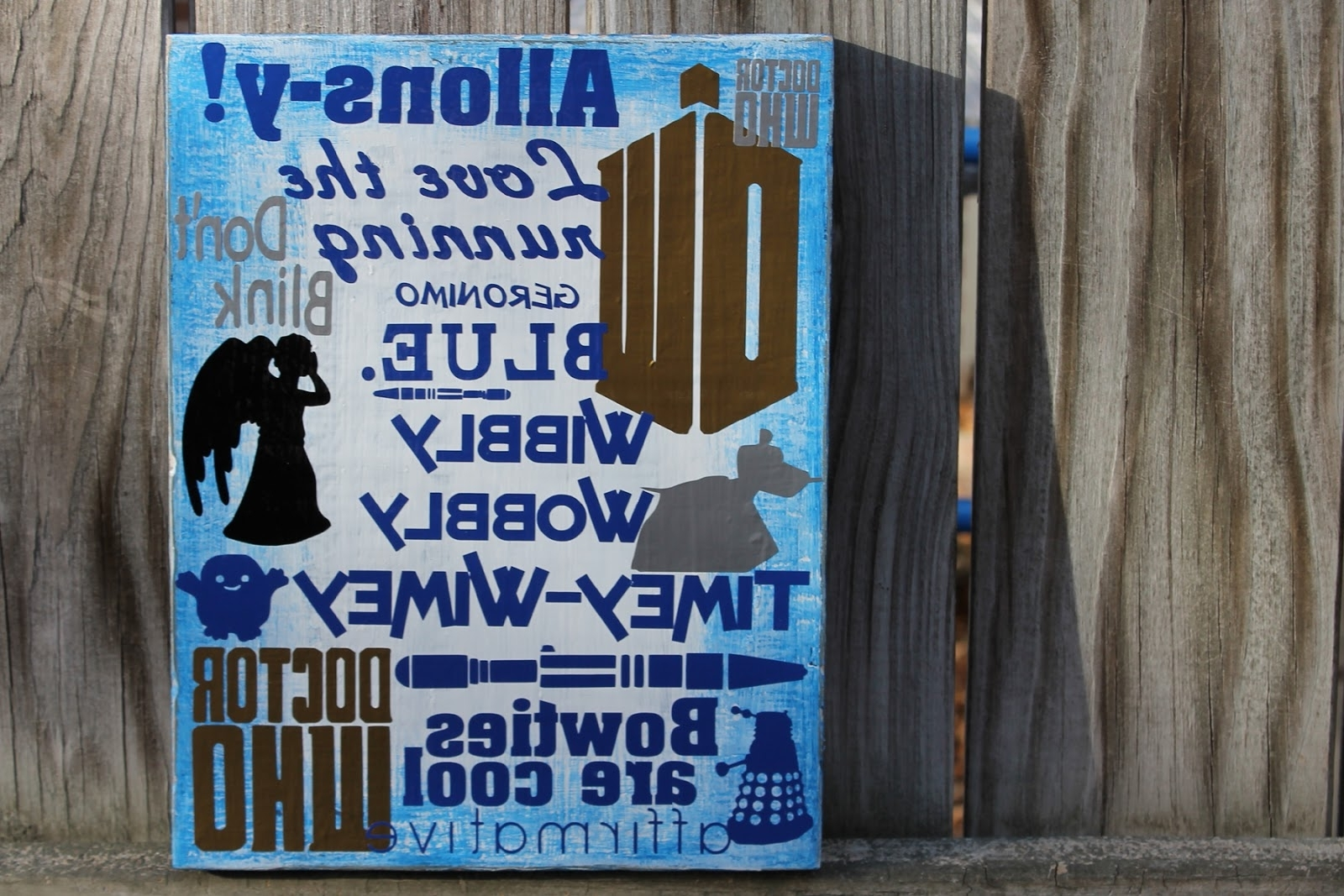 Latest Doodlecraft: Doctor Who Wall Art Geekery! Within Doctor Who Wall Art (View 12 of 15)