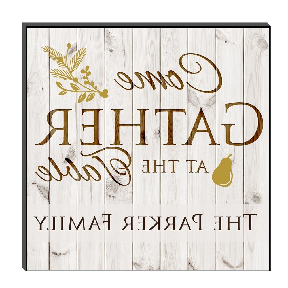 Latest Family Gathering Personalized Wall Art Panel For Personalized Wall Art (View 5 of 15)
