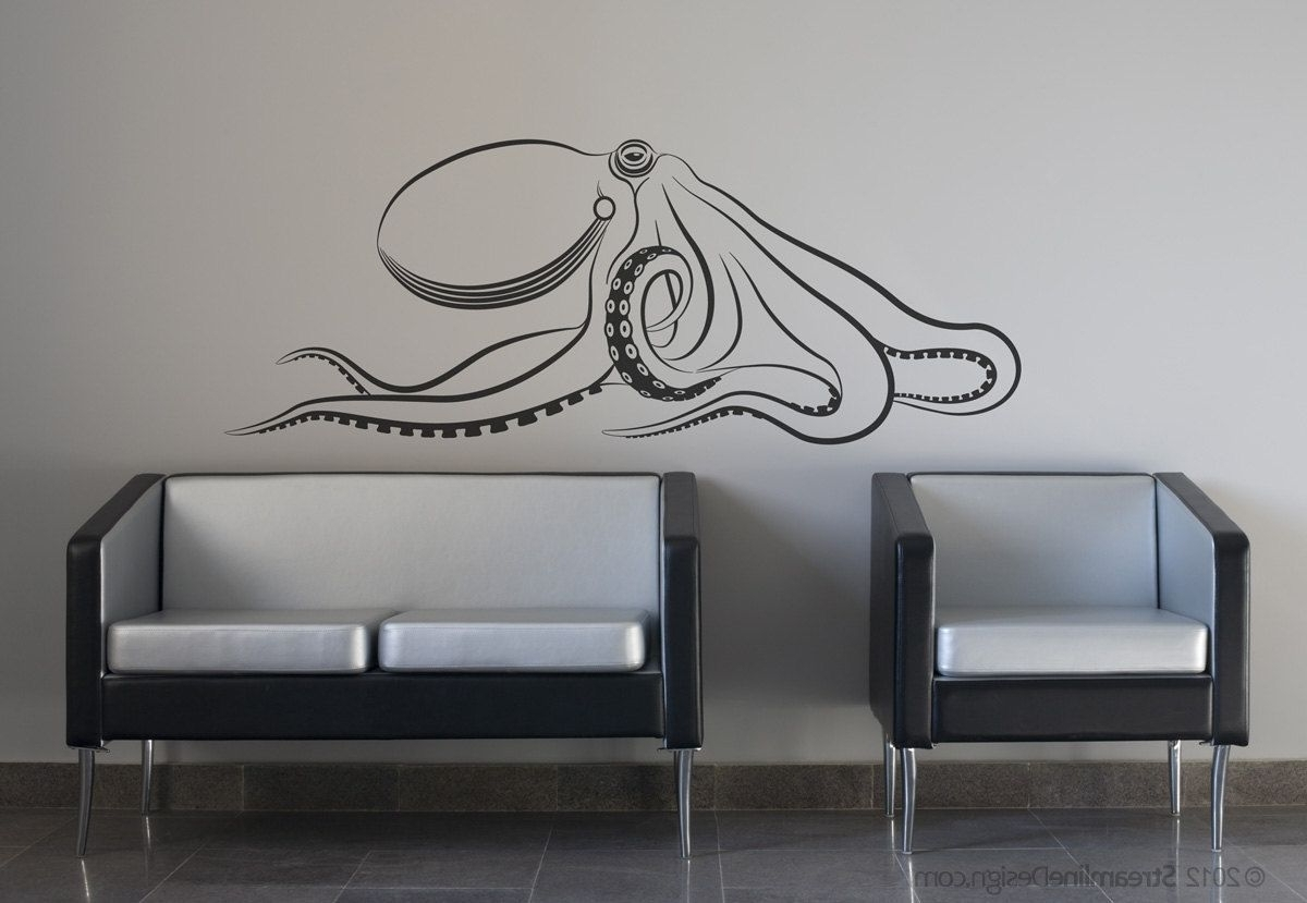 Latest Giant Octopus Wall Decal (Gallery 3 of 20)