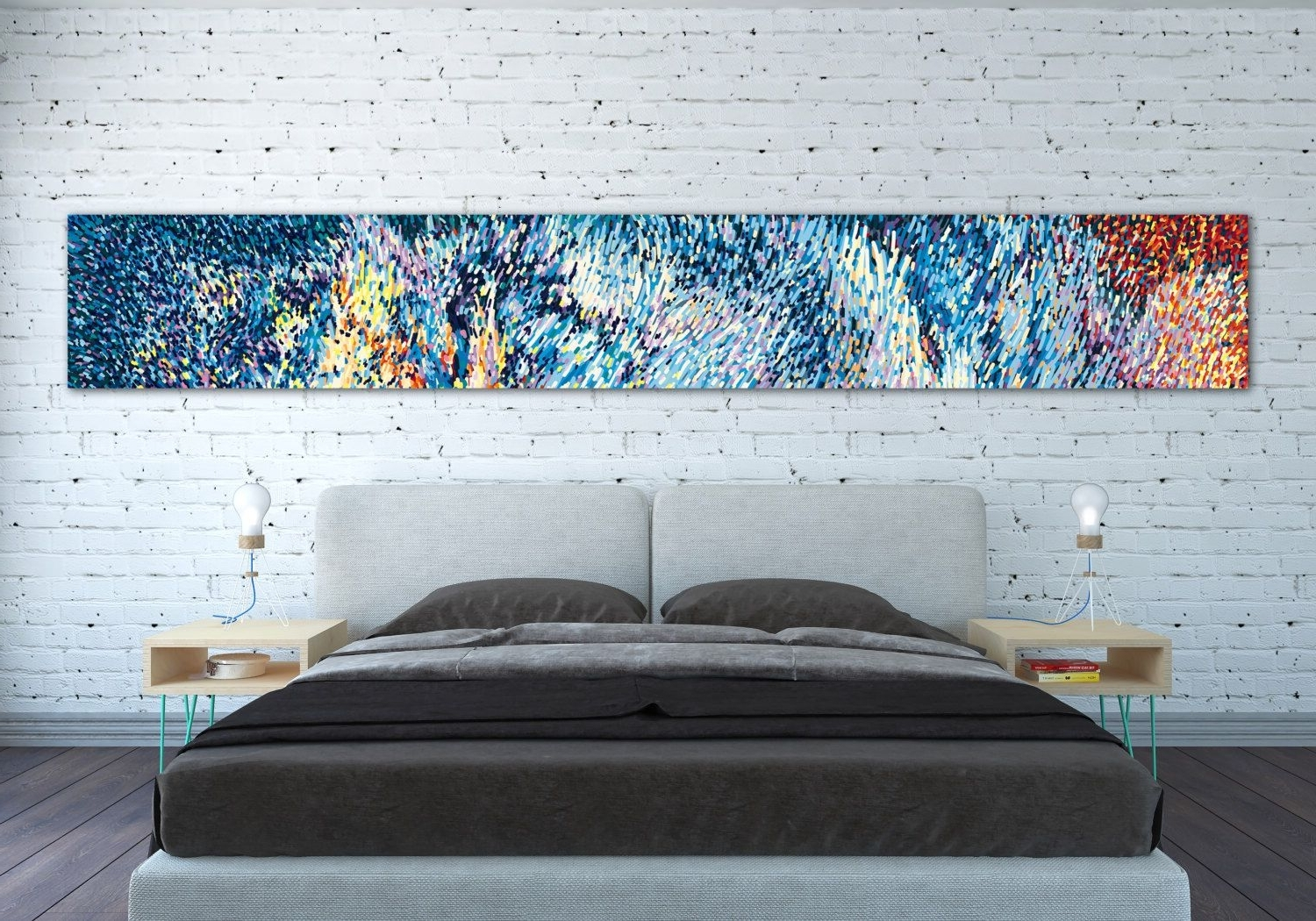 Latest Long Canvas Wall Art Inside Canvas Print Horizontal Extra Long Horizontal Large Abstract (Gallery 1 of 20)