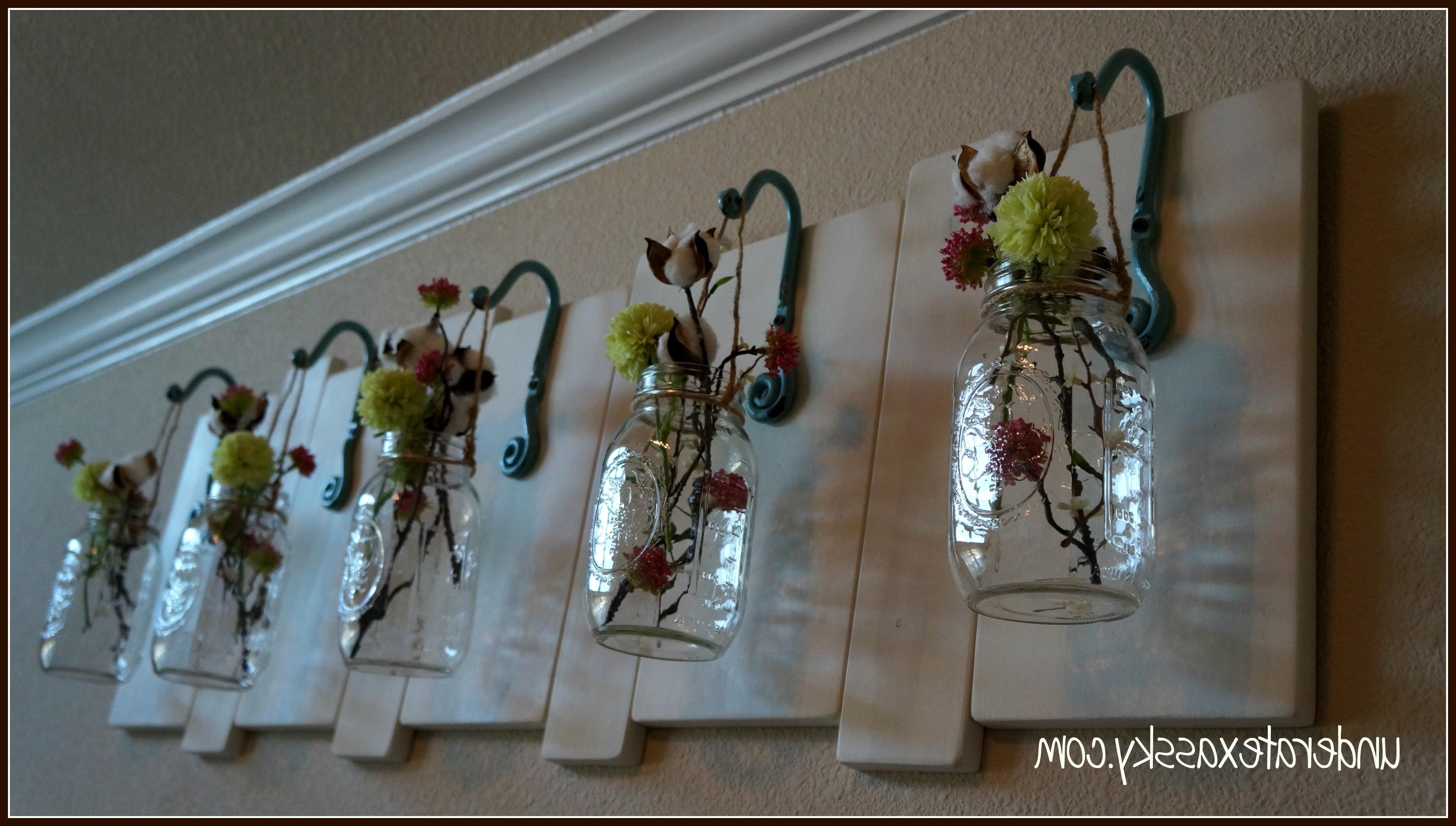 Latest Mason Jar Wall Art With Fair 90 Mason Jar Wall Art Decorating Design Jar Art Scheme Of Mason (View 2 of 20)