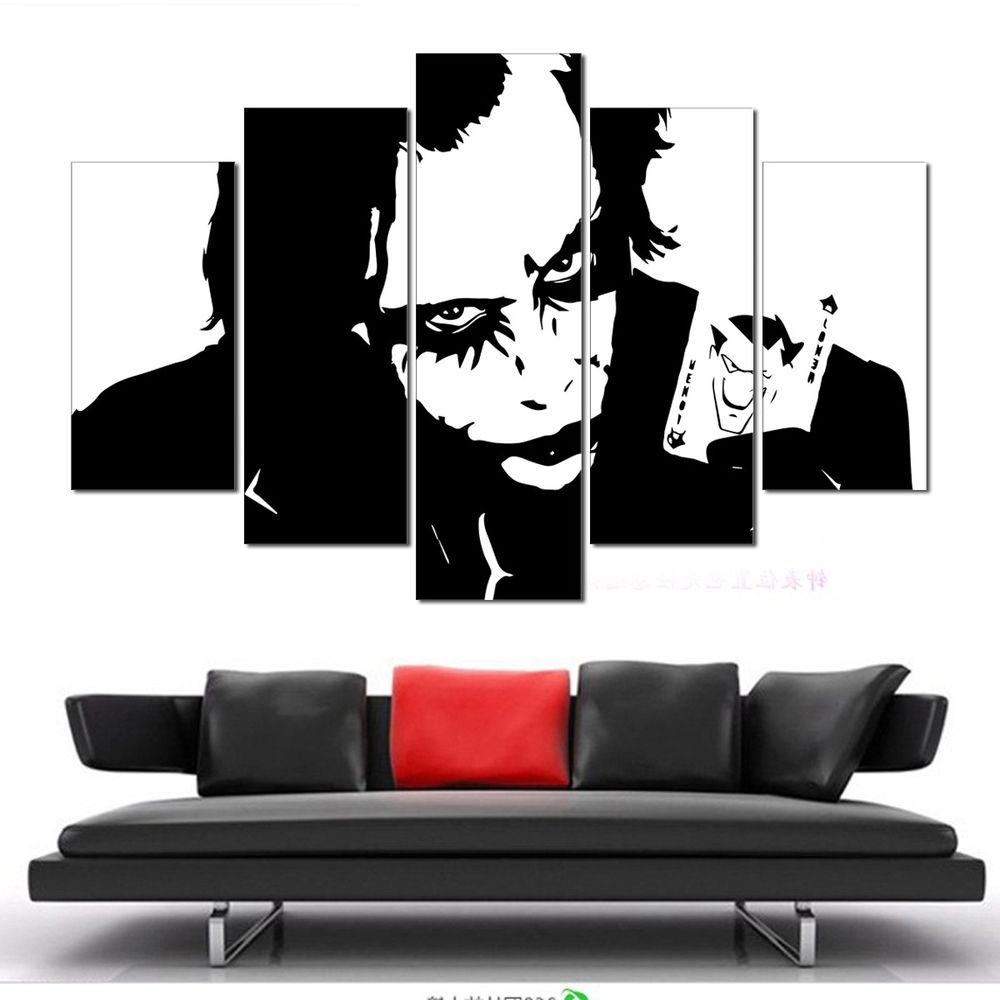 Latest Not Framed Canvas Wall Art Pictures Prints Home Decor Batman Joker In Joker Wall Art (Gallery 11 of 20)