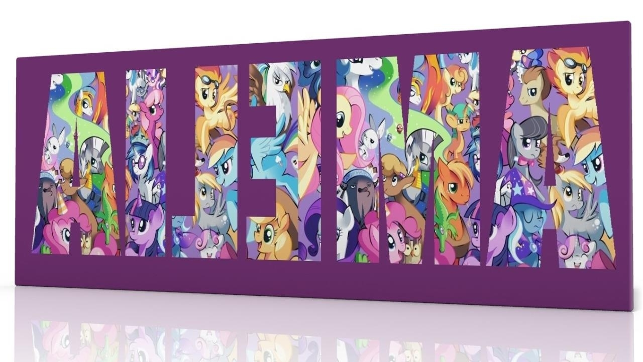 Latest Personalised Canvas Wall Art My Little Pony Choose From 2 Designs Inside My Little Pony Wall Art (Gallery 9 of 20)