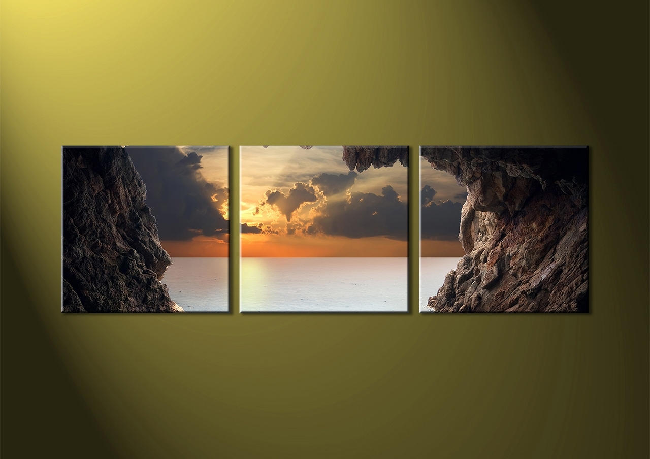 Latest Piece Brown Canvas Ocean Trend 3 Piece Canvas Wall Art – Wall With 3 Piece Canvas Wall Art (Gallery 11 of 20)
