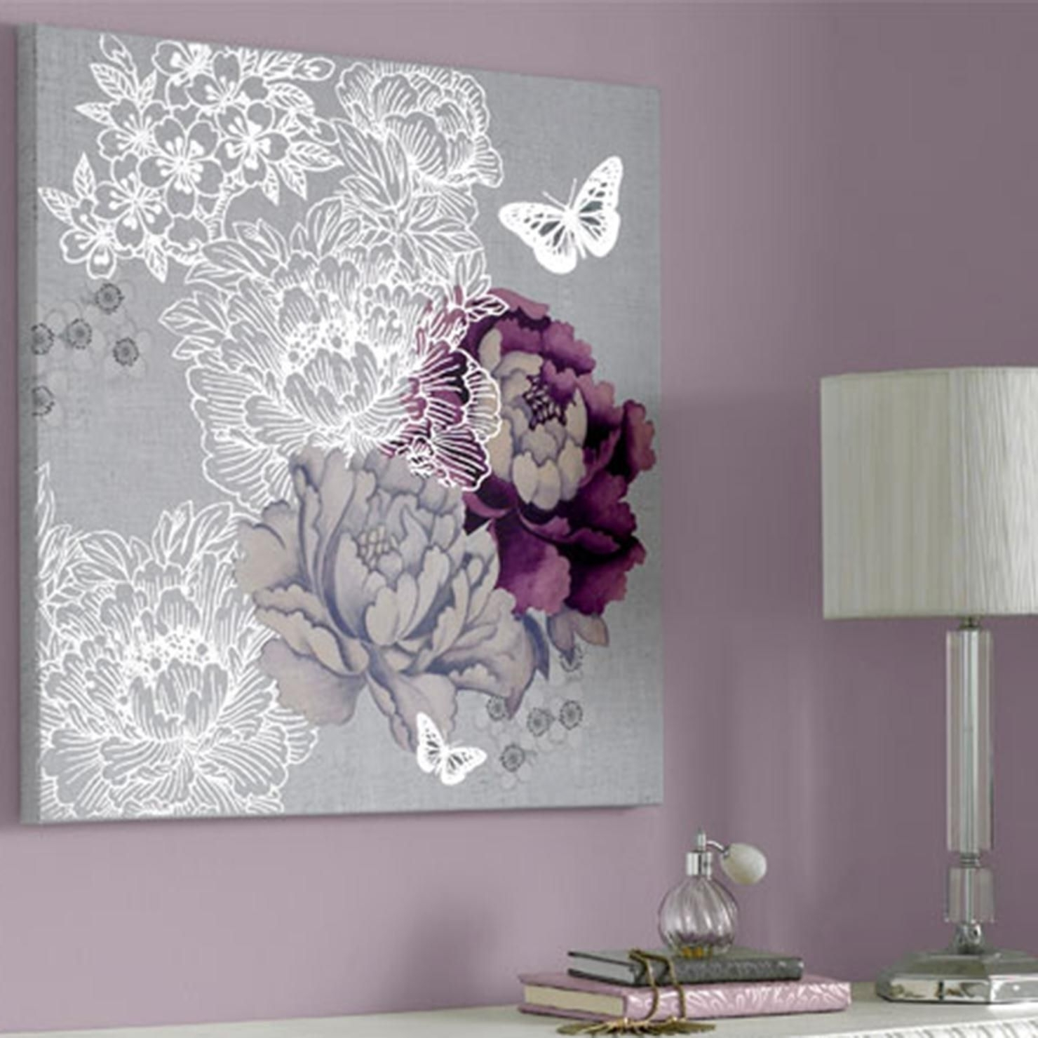 Latest Purple And Grey Wall Art For Extremely Inspiration Purple And Gray Wall Art – Ishlepark (View 10 of 20)