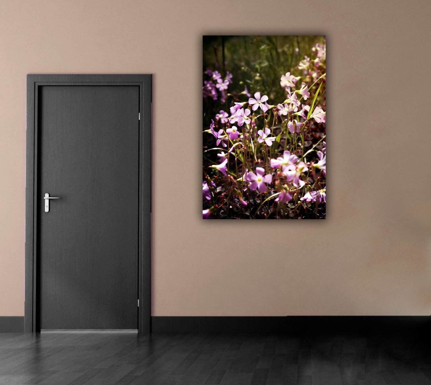 Latest Purple Flower Photograph, Flower Field Photography, Vertical Wall Pertaining To Vertical Wall Art (View 12 of 20)