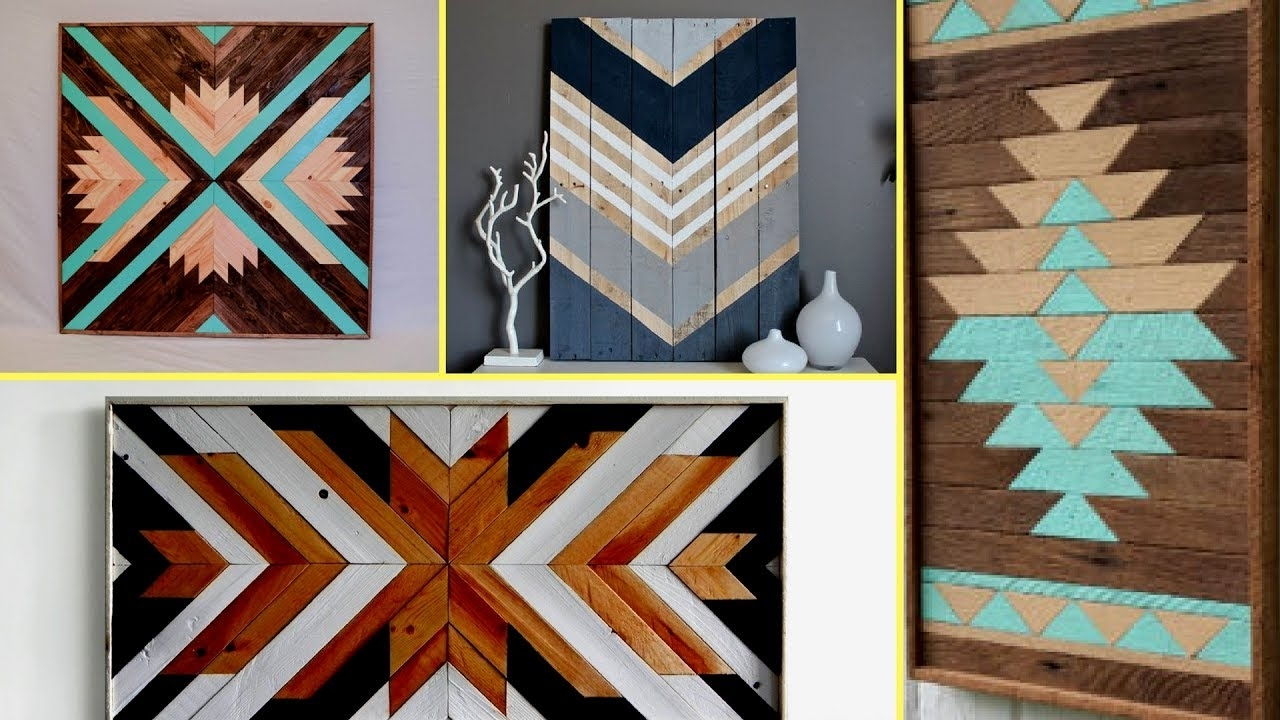 Latest Reclaimed Wood Wall Art Within ✴Reclaimed Wood Art Decor Ideas (View 2 of 15)