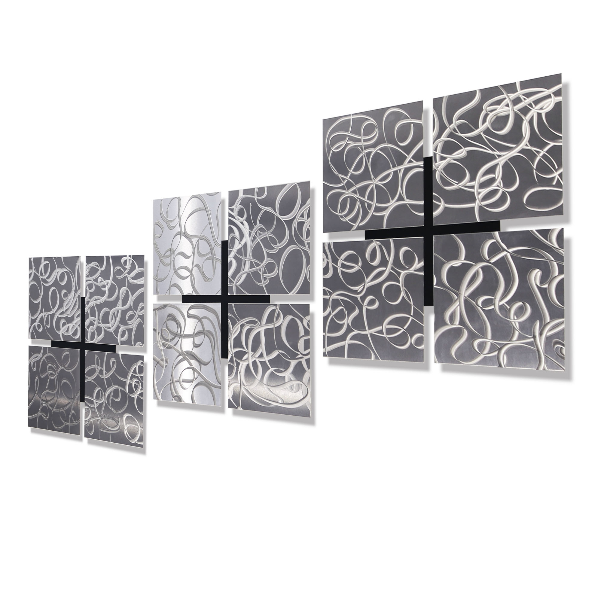 "Latest Silver Metal Wall Art With Regard To 3 Kings – Silver Set Of Three 12"" X 12"" Metal Wall Art Accents (View 7 of 20)"