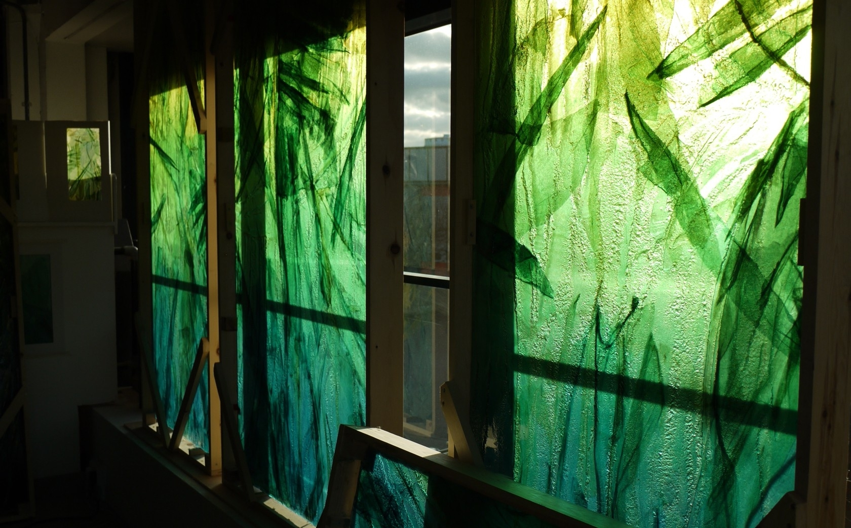 Latest Slumped Glass Wall Art – Bradley+basso Studio Throughout Glass Wall Art (View 12 of 15)