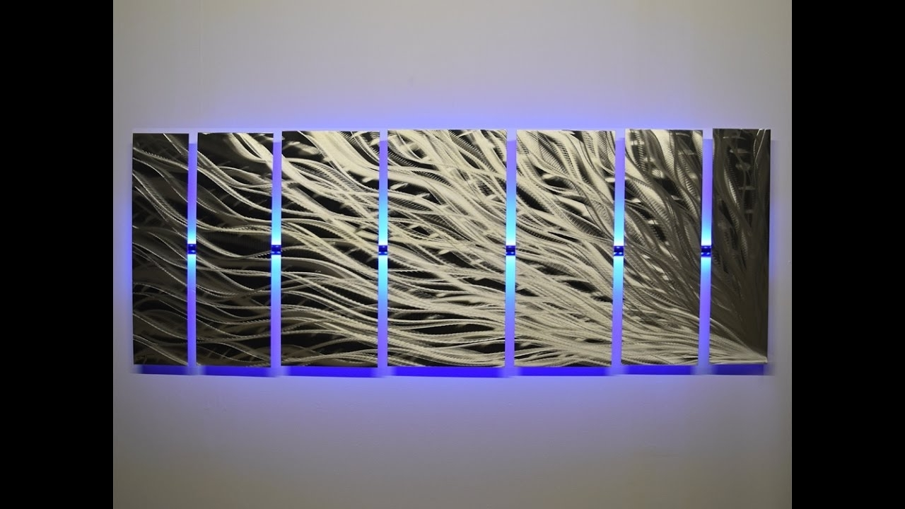 "Led Wall Art For Trendy Lighted Wall Art ""silver Rush"" Led Metal Wall Artdv8 Studio (View 11 of 20)"