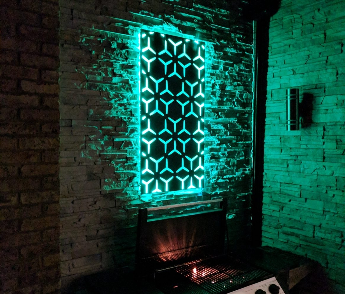 Led Wall Art ; So Much More Than Flat Metal Panels – The Ideal Garden Regarding Trendy Led Wall Art (Gallery 4 of 20)