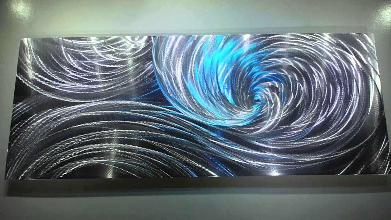 Led Wall Art Within Newest Modern Metal Art 3D Aluminum Sculpture Wall Decor Led Rgb Halogen (View 20 of 20)