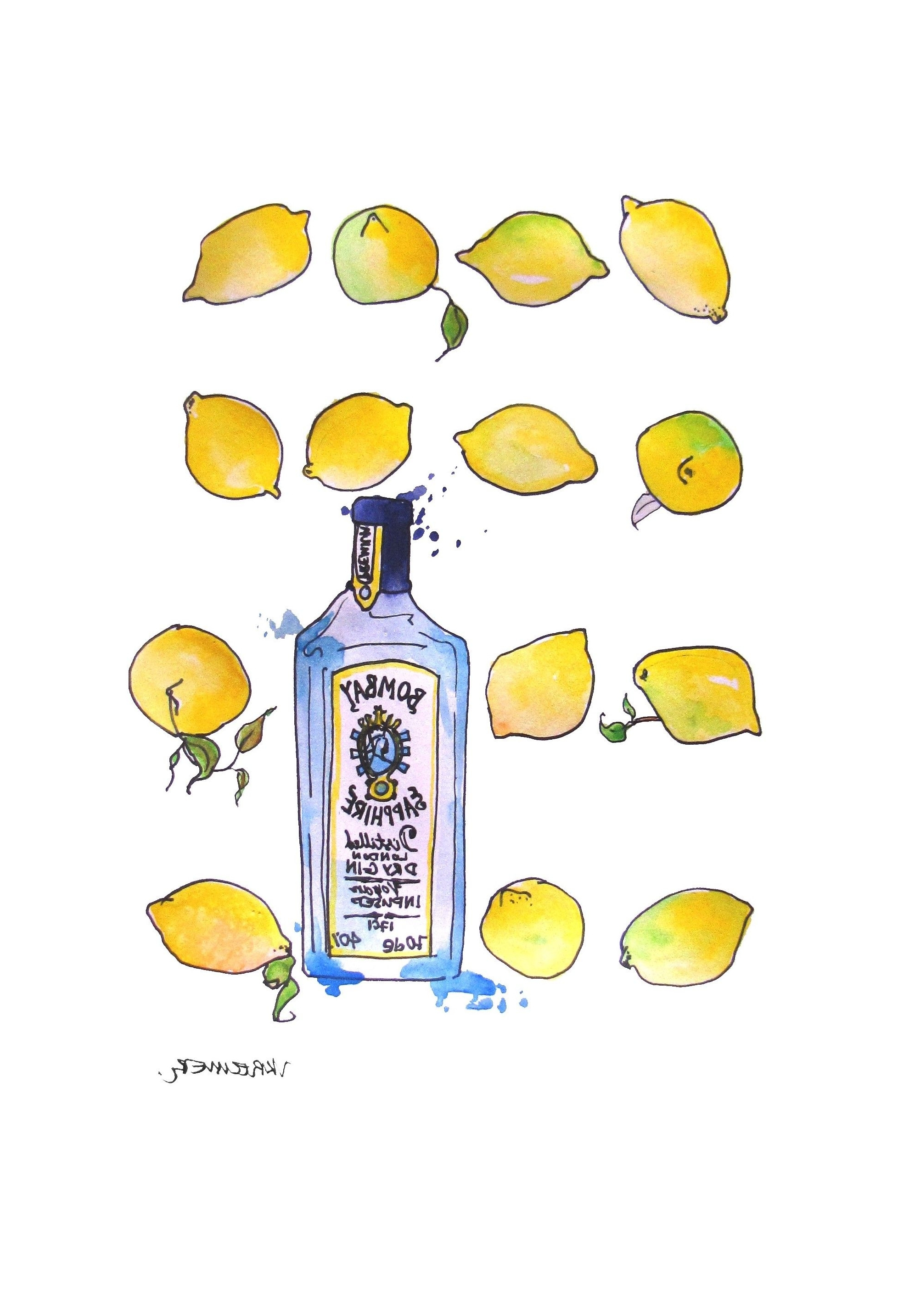 Lemon Wall Art For Favorite Bombaysapphire #gin #wallart Bombay Sapphire And Lemons Wall Art (View 5 of 20)