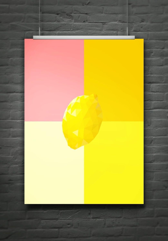 Lemon Wall Art Pertaining To Popular 8 X 10 Printable Digital Print Colorful Spectrum Lemon Wall Art (View 7 of 20)