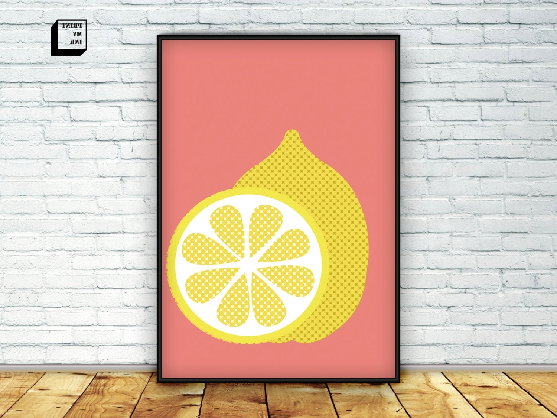 Lemon Wall Art Regarding Most Recently Released Lemon Print Lemon Wall Art Citrus Print Lemon Poster, Lemon Wall Art (View 9 of 20)