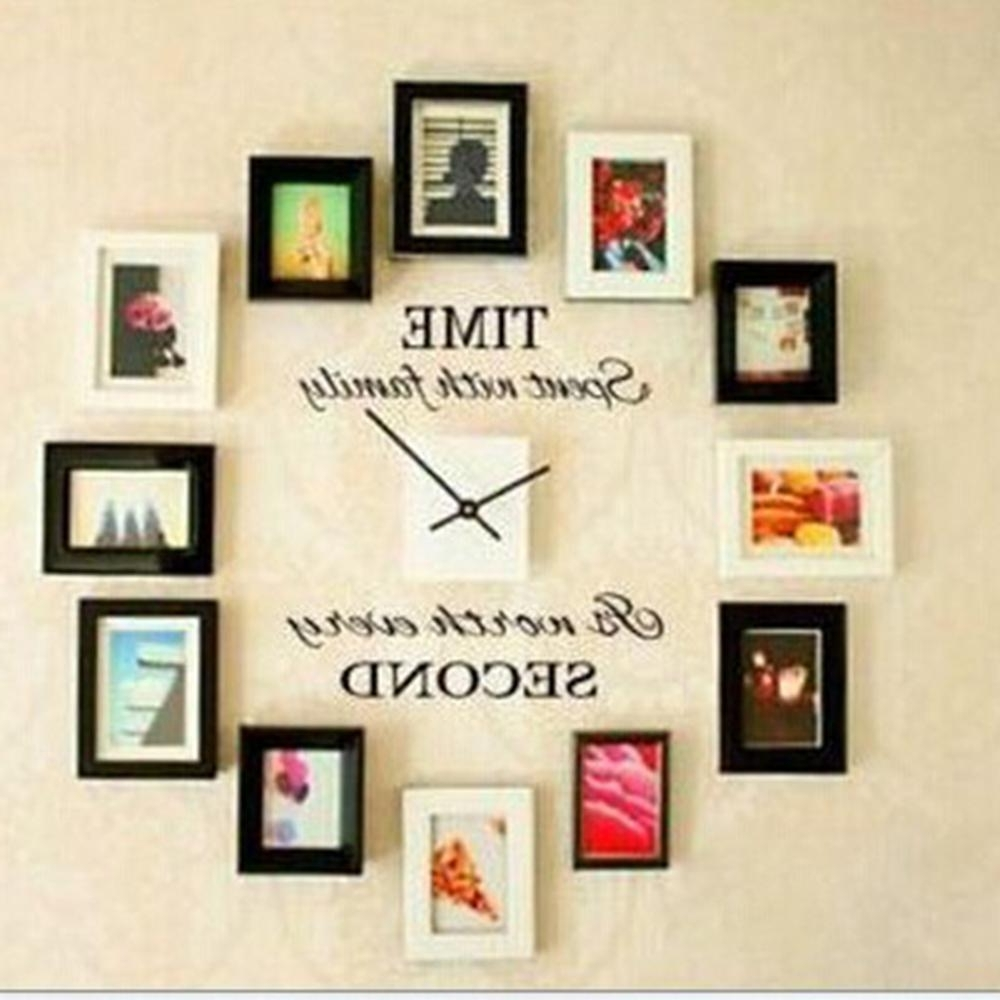 Letter Wall Art Inside Newest Time Spent With Family Quote Wall Decoration Letters Vinyl Home Wall (View 6 of 20)