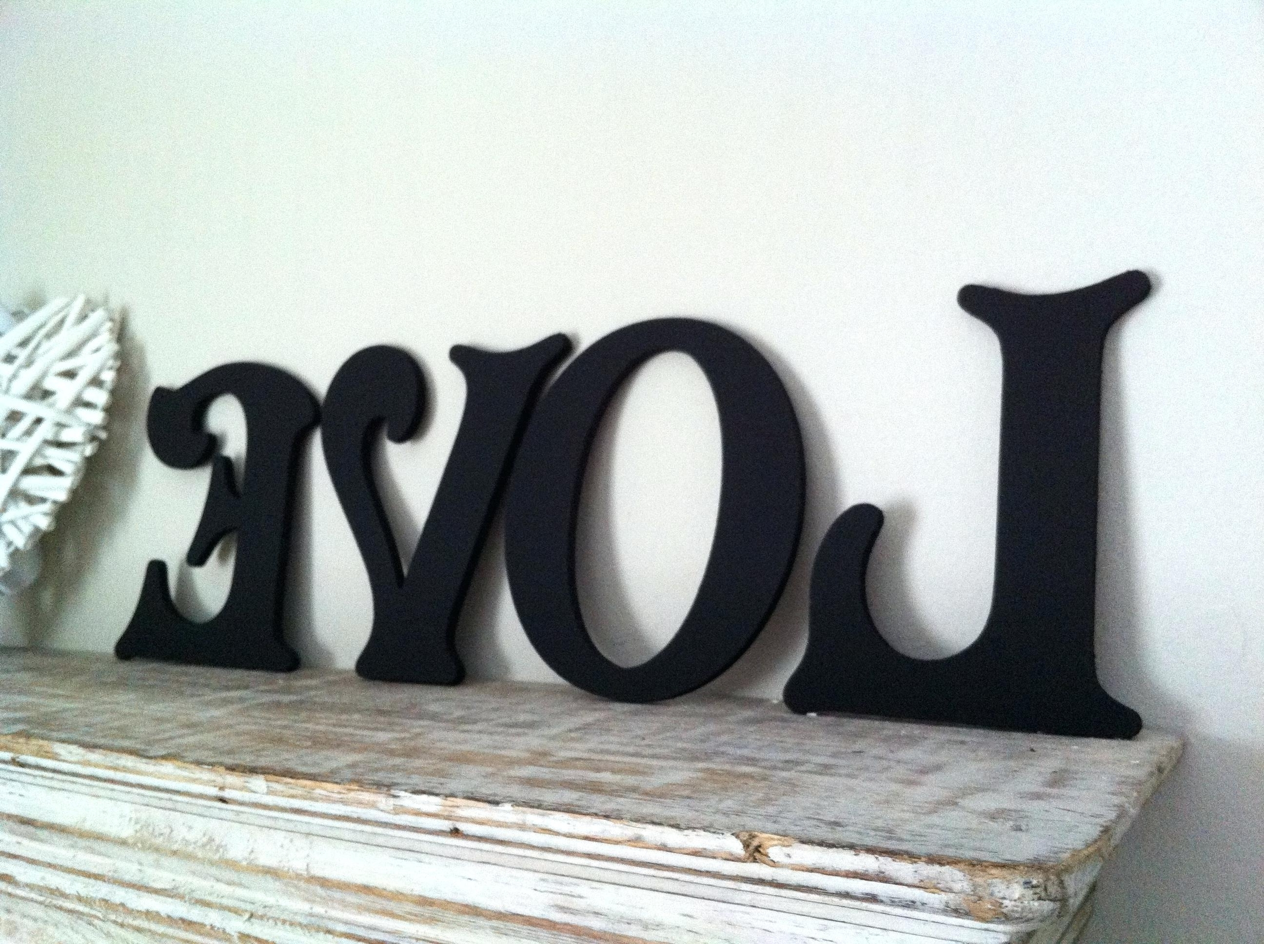 Letter Wall Art Pertaining To Famous Wood Alphabet Letters Wall Art Wood Letter Wall Decor Lovely Wood (View 19 of 20)