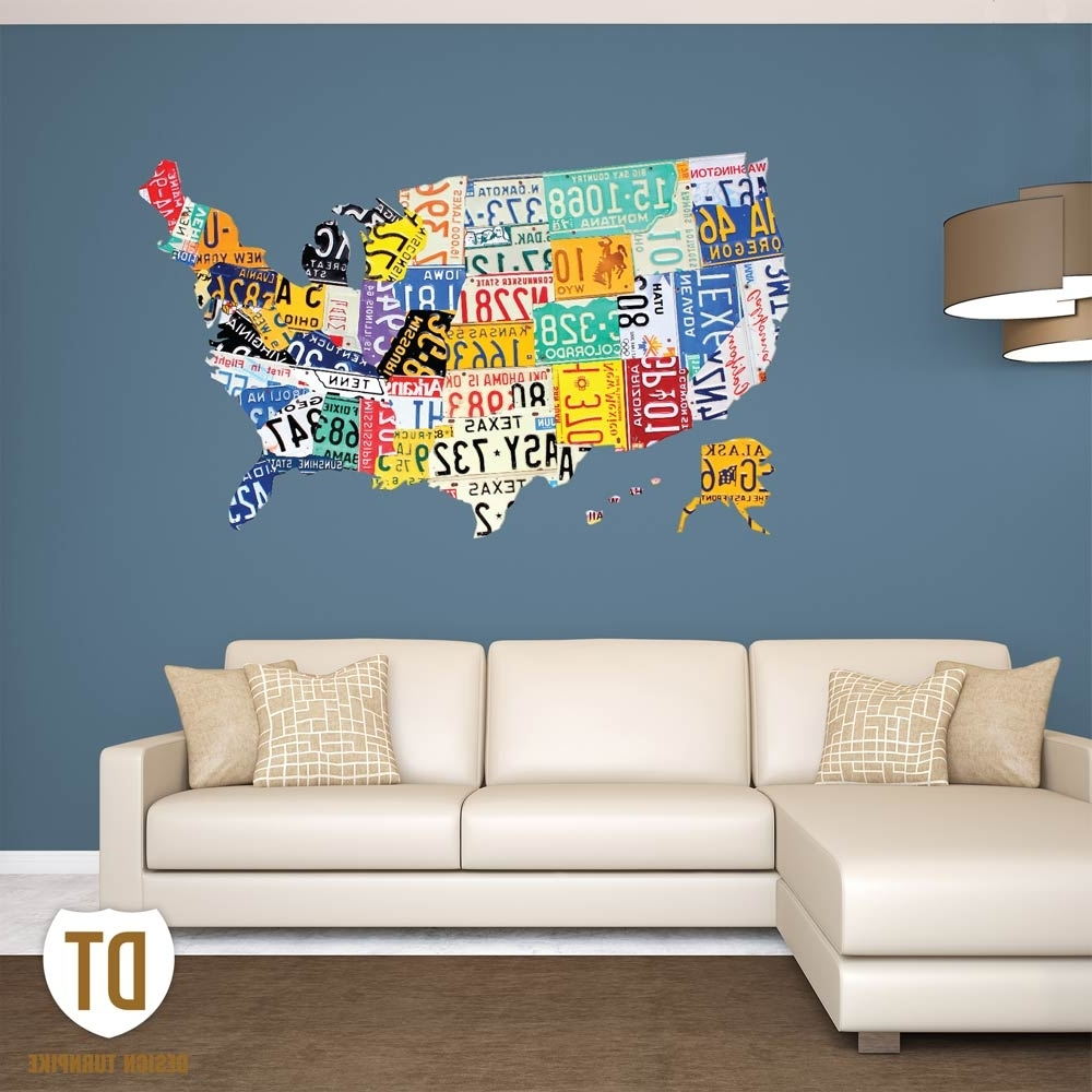 License Plate Usa Map (View 10 of 20)