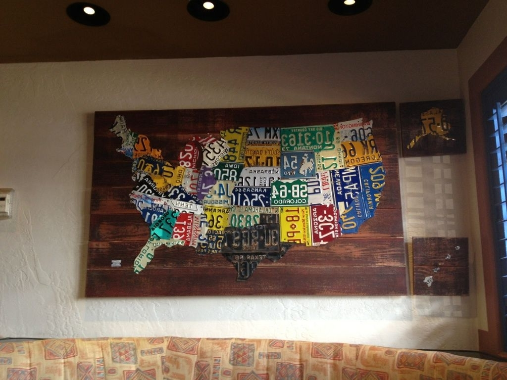 License Plates, Craft And In License Plate Map Wall Art (View 12 of 20)