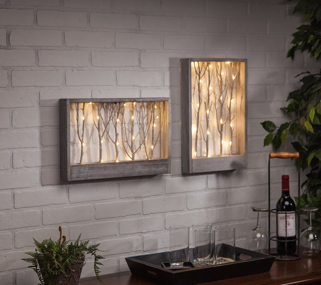 Lighted Branch Wall/table Decor. This Lighted Wall Art Adds The In Most Recently Released Lighted Wall Art (Gallery 5 of 20)