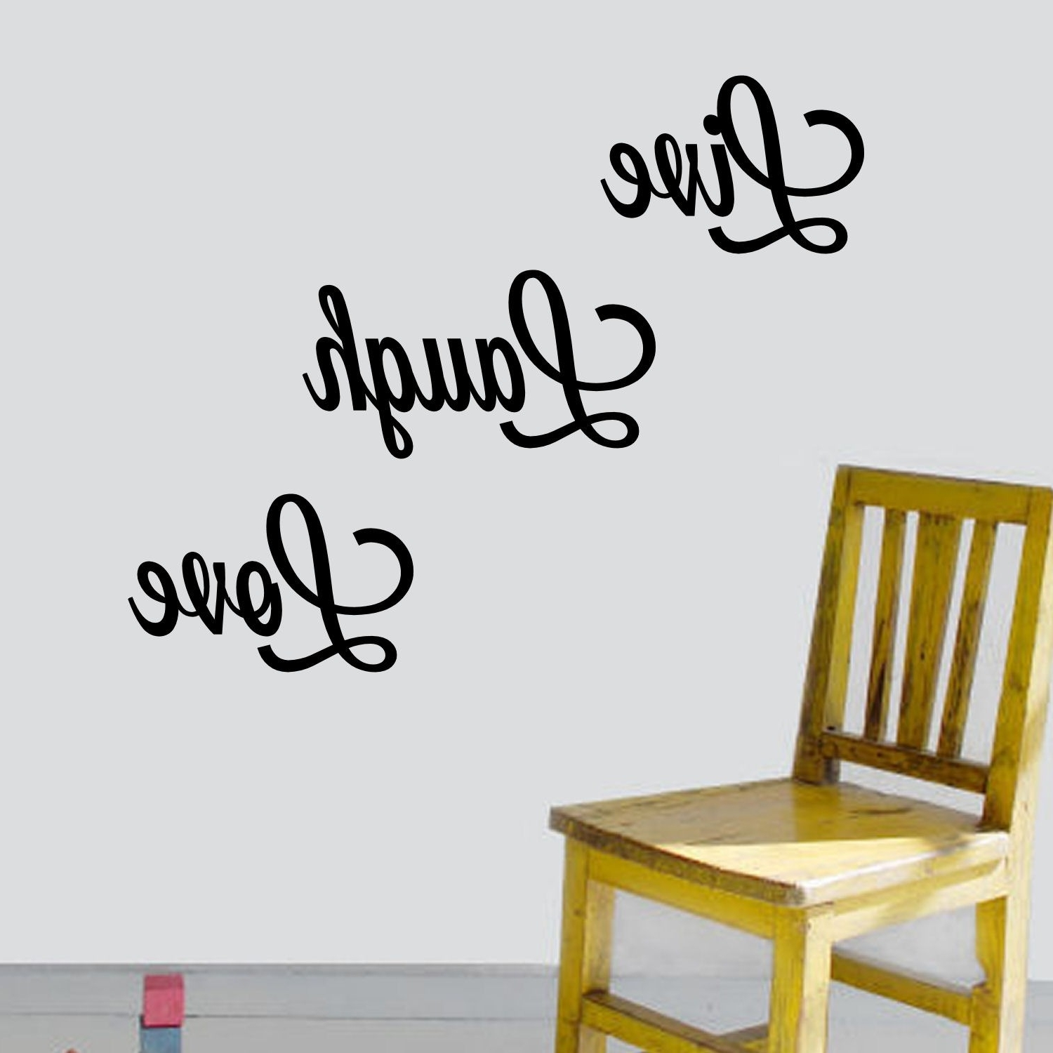 Live Laugh Love Wall Art Inside Well Known Shop 'live, Laugh, Love' Vinyl Wall Art Decal – Free Shipping On (View 7 of 20)