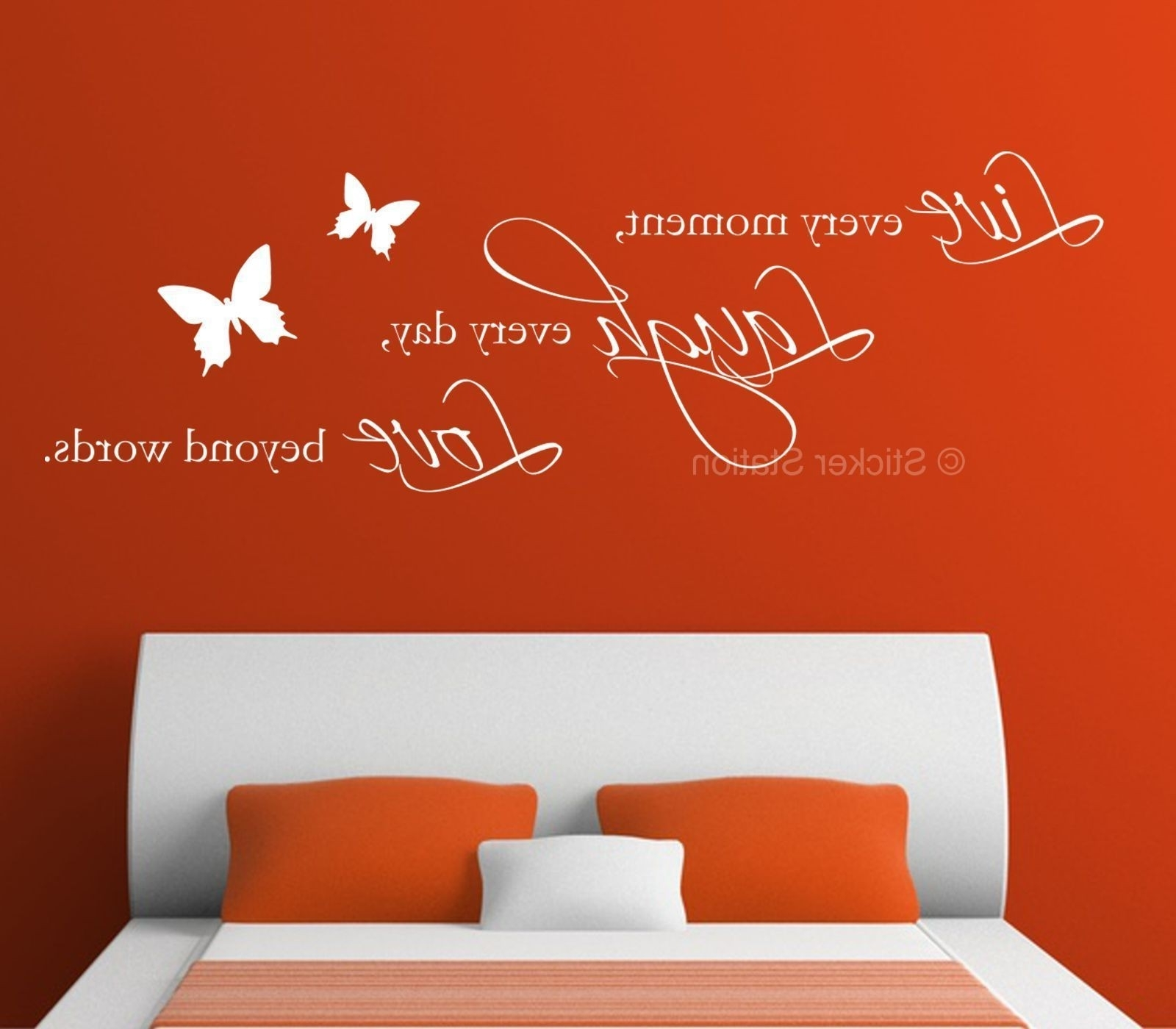 Live Laugh Love Wall Art Inside Widely Used Live Laugh Love Quote & Butterflies Wall Art Sticker – Sticker Station (Gallery 20 of 20)