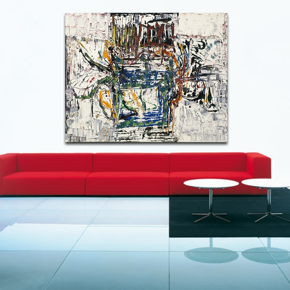 Living Room Painting Wall Art Throughout Recent Jackson Pollock Style Living Room Modern Wall Art Painting Picture (Gallery 19 of 20)