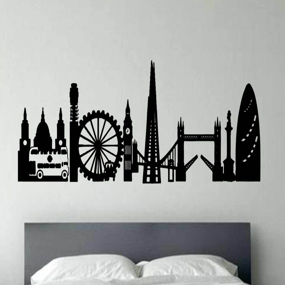 London Montage Vinyl Wall Art (View 14 of 20)