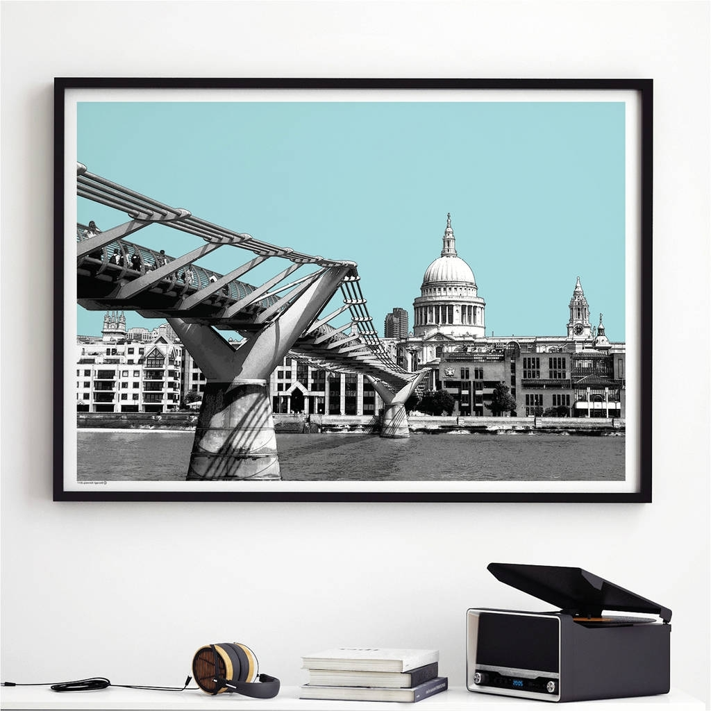 London Wall Art Print St Pauls Cathedralbronagh Kennedy – Art Throughout Popular London Wall Art (View 7 of 20)